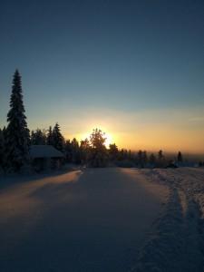 Solnedgång 27/12 2014