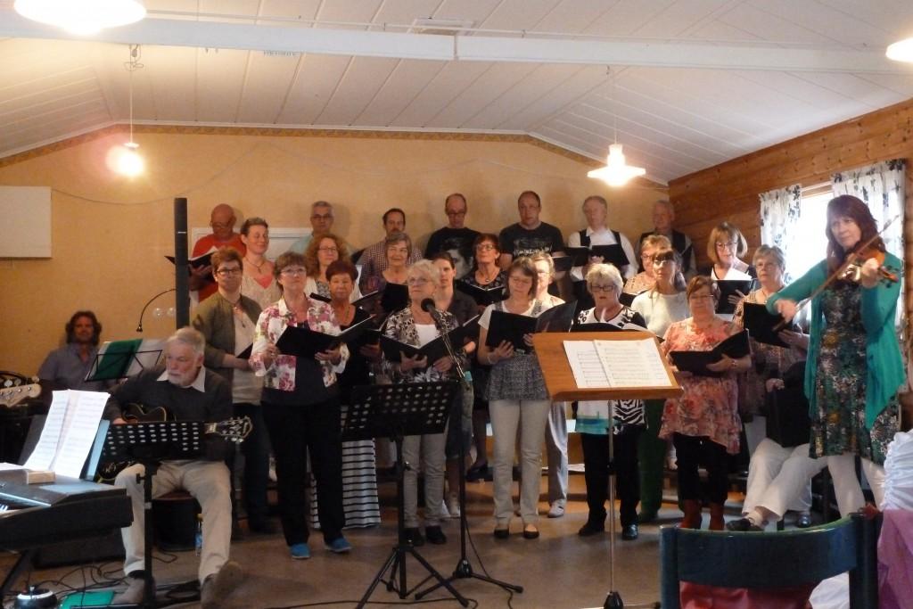 Stugun och Borgvattnets kör hade konsert på Eriksberg i slutet av maj. Trevligt och bra som vanligt.