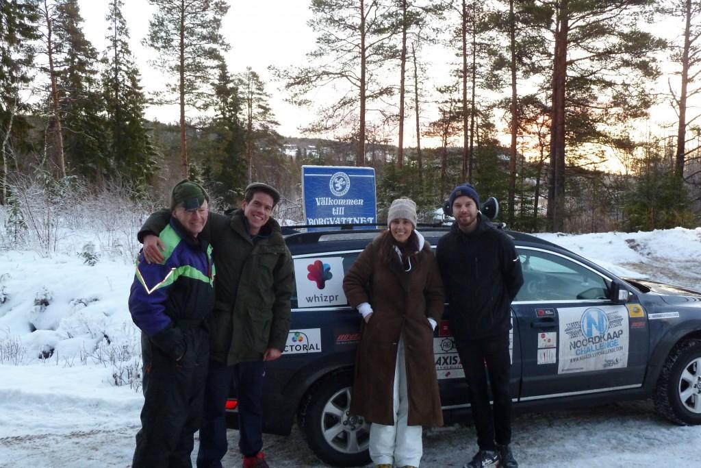 Team Whispr tillsammans med Tage Torgersson.